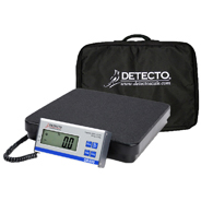 Detecto DR400 Low Platform Scale w/ Carrying Case-400 lb Capacity