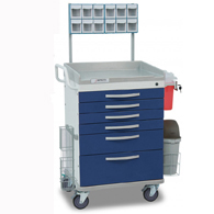 Detecto Loaded Whisper Anesthesiology Carts-Blue