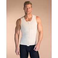 Marena Recovery MV Mens Surgical Vest-Medium-Beige-OPEN BOX