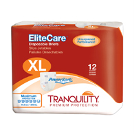 Tranquility 2414 EliteCare Disposable Briefs-Extra Large-48/Case
