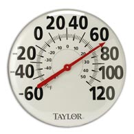 "Taylor 681 18"" Dial Metal Patio Thermometer"